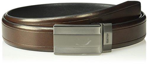 Kenneth Cole REACTION Men's Casual Reversible Belt with Plaque Buckle,tan/black,Medium -