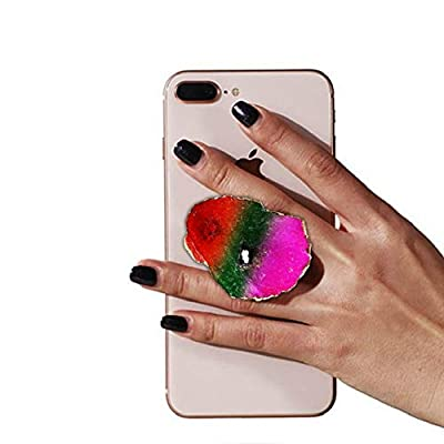 Gorgeous Multi Color Agate Crystal Druzy Quartz Phone Grip Phone Holder for Smart Phones and Tablets