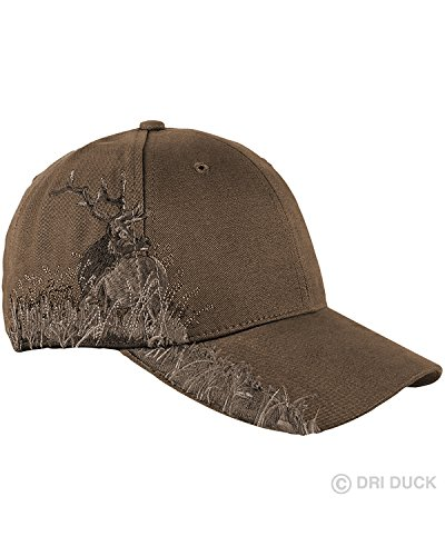 Elk Cap - 3200 Dri Duck Wildlife Cap (Elk_Brown) (One)