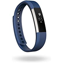 Fitbit Alta Fitness Tracker, Silver/Blue, Large (US Version)