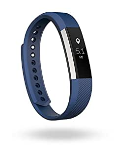Fitbit Alta Fitness Tracker, Silver/Blue, Small (US Version)
