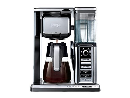 Ninja 10 Cup Coffee Maker Built-In Frother, Chrome/Black (Certified Refurbished)