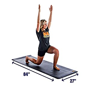 "Well-Being-Matters 41e6Na9U2tL._SS300_ Pogamat XL Large Exercise Mat And Thick Yoga Mat 84"" X 27"" X 1/4"" Thick High Density Workout Mat - Anti tear Cardio Mat For Home Gym - Extra Long 7 Feet Fitness Mat Can Be Used With Or Without Shoes"