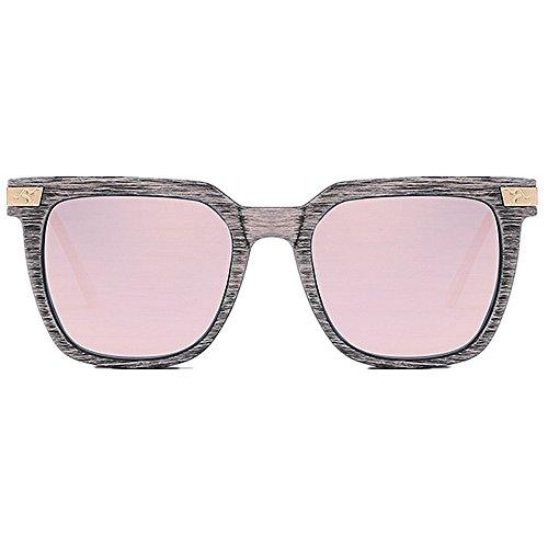 Madera Aire de Sol Al Retro Peggy de Gu Para de Verano Libre Protección gafas Marco Conducción Las Color Gafas Mujeres UV Estilo de de Vacaciones Rosado de Polarizadas de Color Sol de Púrpura Playa PC XxS4wqgYw