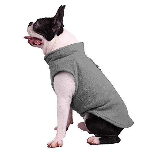 duduxiaomaibu Fleece Dog Cold Weather Spring Vest Sweatshirt Pet Sweater(color3-S)