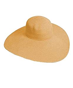 Decorbox(TM) Big Beautiful Solid Color Floppy Hat (Sand)