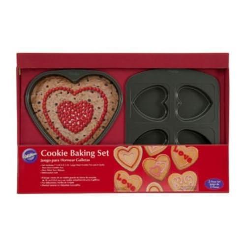 Wilton 2-Piece Valentine Cookie Baking Pan Set
