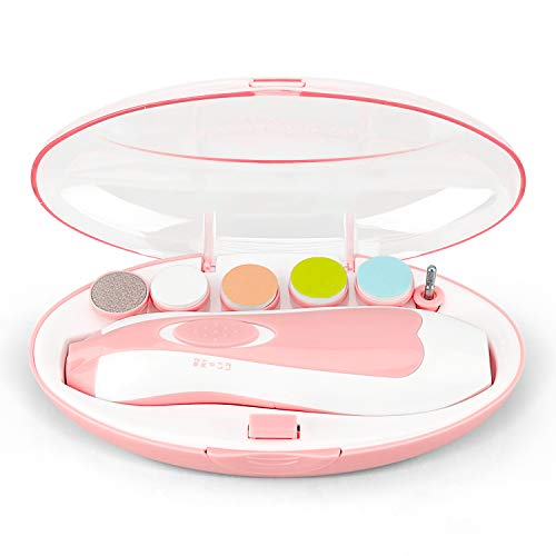 Electric Baby Nail Trimmer, Baby Nail Clipper Electric Nail File with LED Light for Newborn, Kids and Adults