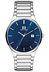 Danish Design Men's Grey Steel Bracelet & Case Quartz Blue Dial Analog Watch IQ68Q1112