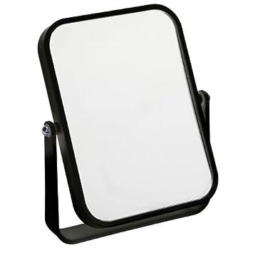 Fancy Metal Goods Free Standing Travel Or Bathroom Mirror Black
