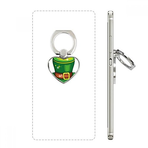 Shine Green Hat Ireland St.Patrick's Day Heart Cell Phone Ring Stand Holder Bracket Universal Support Gift