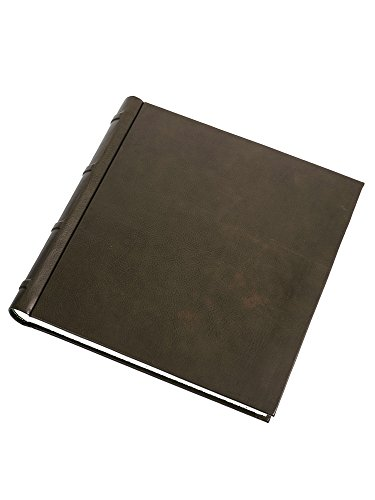 Cozzi - Olive-green leather photo album by Cozzi Legatoria