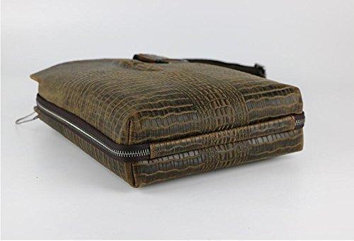 DJB/ Krokodil Muster Leder Mann Tasche Herren Freizeitmode Crazy Horse Leder Sling Messenger Tasche