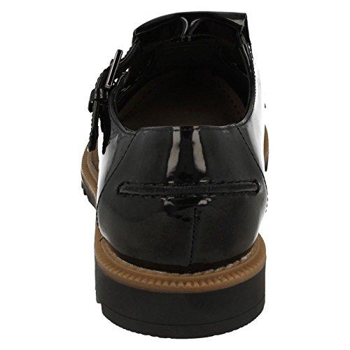 Zapatos Casuales De Mujer De Mia De Griffin De Clarks Negro Patente
