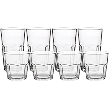 8pack unbreakable rocks glasses old fashioned drinking glasses 100 clear tritan tumblers