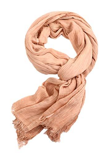 Runtlly Men's Scarf, Fashion Warm Autumn Winter Cotton Scarf, Unisex Orange
