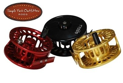 Temple Fork Outfitters Large Arbor Fly Reels Model: TFR 375 Red