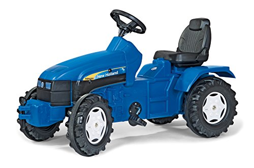 rolly toys New Holland Pedal Farm Tractor with Adjustable Seat, Youth Ages 3+ -  Kettler, 036219
