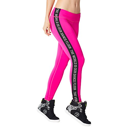 Zumba Fitness Soft Dance Workout Activewear Compression Print Leggings for Women