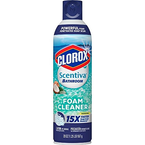 Clean Foam Cleaner - Clorox Scentiva Foam Cleaner, Pacific Breeze & Coconut, 20 oz (Pack of 2)