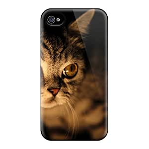 EvcCqhS3090HnRqn Tpu Case Skin Protector For Iphone 4/4s Cat With Nice Appearance