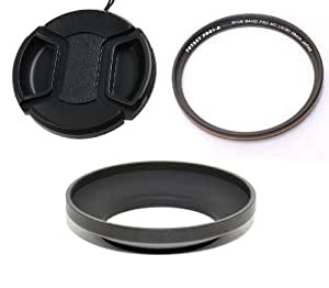 Fotasy HNCP17Kit Essential Accessory Kit for Nikon Coolpix P7700 P7800 : Metal Hood replaces HN-CP17, 58MM Pro1D UV Filter and Lens Cap