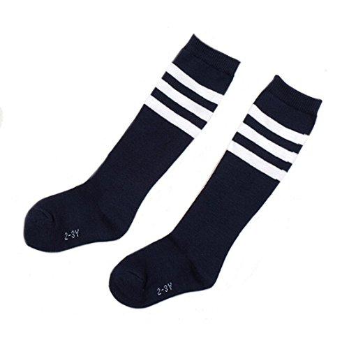 Flyusa 1 Pair Toddlers Children Kids Girls Boys Cotton Bootie Knee High Long Soccer Socks Team Socks for Kids 4-5 Years Old – DiZiSports Store