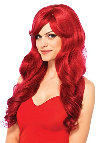 Leg Avenue Women's Long Wavy Wig, Red, One Size - Ariel Wig Adult