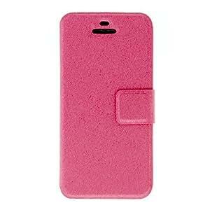 Conseguir Refinado Seda Imprimir Diseñado PU caso de cuerpo completo con ranura para tarjeta y el soporte para el iPhone 5C (colores surtidos) , Blanco