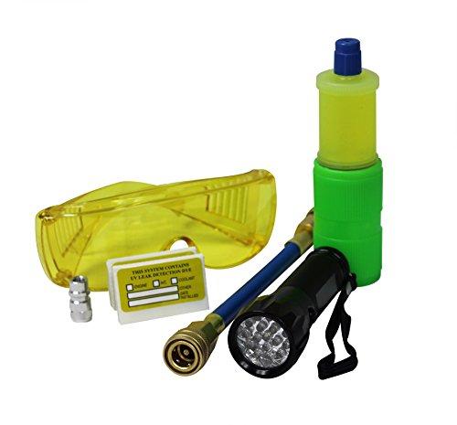 MASTERCOOL (53587 Black 17-LED UV Flashlight Kit with 10-Application Universal A/C Dye Kit (Dye Auto)