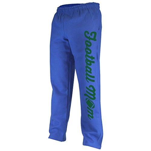 Mom with Football Sweatpants   Football Apparel by ChalkTalk SPORTS   Royal/Green   Adult (Football Sweatpants)