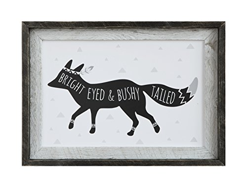 Creative Co-Op DA7867 Sayings Framed Bright Eyed Fox Wall Decor