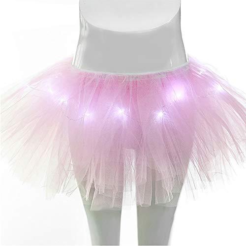 Duanmei LED Light Ballet Jupe Tulle Jupe Mode Jupe Courte Tutu Danse Jupe, Shining Jupe Jupe Jupe Romantique Rose