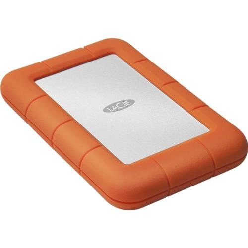 LaCie Rugged Mini 4TB External Hard Drive Portable HDD - USB 3.0 USB 2.0 compatible, Drop Shock Dust Rain Resistant Shuttle Drive, for Mac and PC Computer Desktop Workstation PC Laptop (LAC9000633)