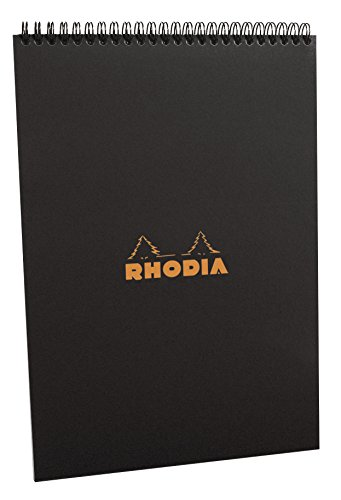 Rhodia Notepads Graph Black Wb 8.3 x - Notepad Spiral Graph