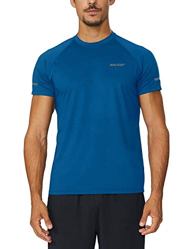 Top Short Sleeve Training (Baleaf Men's Quick Dry Short Sleeve T-Shirt Running Fitness Shirts Royal Blue Size M)