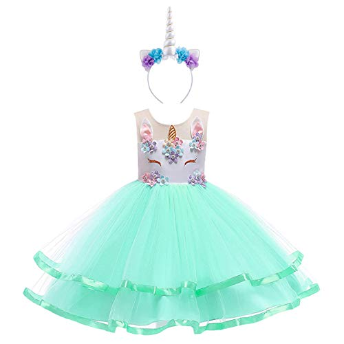 Child's Frilly Flower Girls Unicorn Dress Up Hair