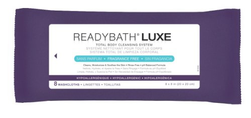 MEDLINE MSC095103 ReadyBath Luxe Total Body Cleansing Heavyweight Washcloths (Pack of 24)