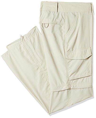 Convertible Full Leg Pant (Columbia Silver Ridge Convertible Full Leg Pant, 8x Regular, Fossil,32.0 in long)