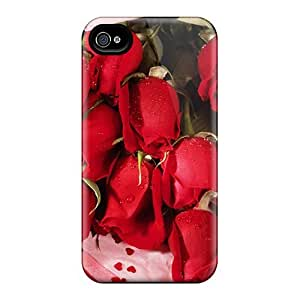 Flexible Tpu Back Case Cover For Iphone 4/4s - Romantic Roses
