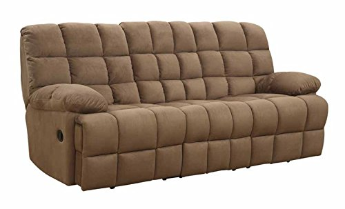 Coaster Home Furnishings 601941 Pickett Motion Collection Motion Sofa, Mocha