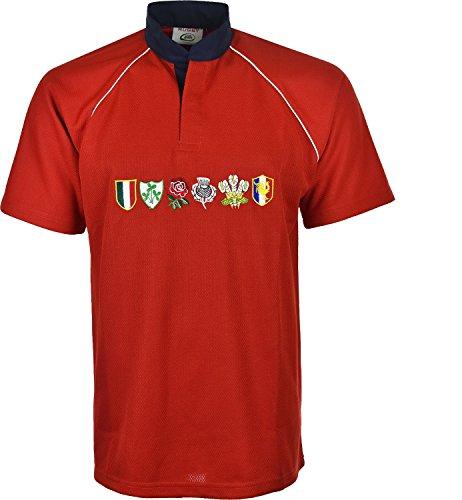 Rojo de 5 equipos a Todos masculino Wear M camiseta Tama os 6 Torneo de Xl Active los Naciones rugby EUaqw