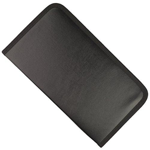 Jmkcoz 80 Capacity Discs Storage Cases PU Leather Classic CD DVD Bags Wallets Black