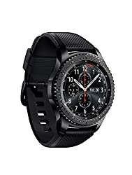 "Gear S3 frontier Dark Gray timeless smartwatch, combining style with the latest innovation in digital technology always on display Watch face 1.3"" super AMOLED full color display.  1 Compatible with select Bluetooth capable smartphones using Android ..."