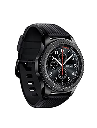 """Gear S3 frontier Dark Gray timeless smartwatch, combining style with the latest innovation in digital technology always on display Watch face 1.3"""" super AMOLED full color display.  1 Compatible with select Bluetooth capable smartphones using Android ..."""