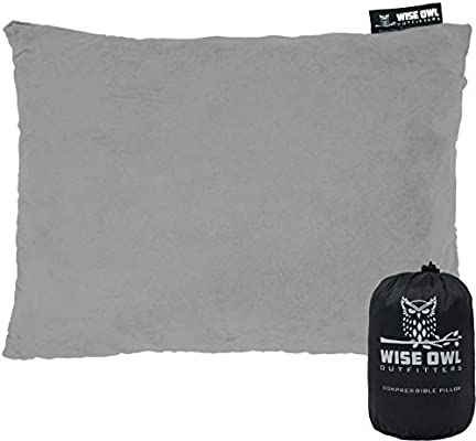 Hammock Bed /& Camp Great for Kids Wise Owl Outfitters Camping Pillow Compressible Foam Pillows Plane Travel Medium /& Large Size Portable Bag Compact Small Use When Sleeping in Car