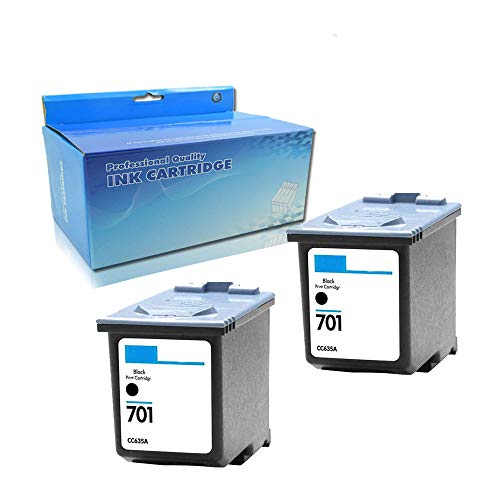 (Remanufactured Ink Cartridge Replacement for HP 701 CC635A (2 Black))