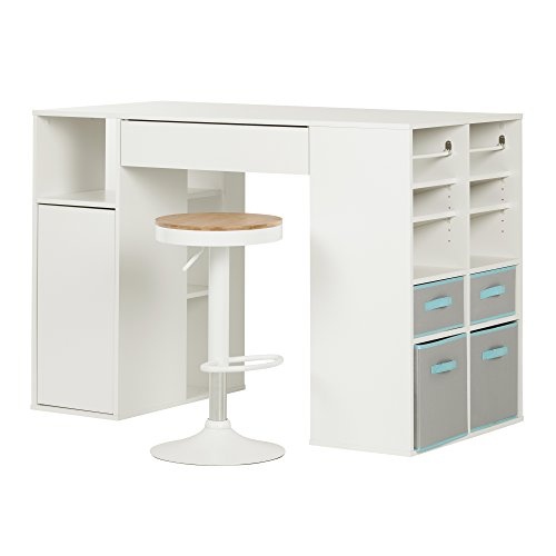 south-shore-crea-pure-white-counter-height-craft-table-and-stool