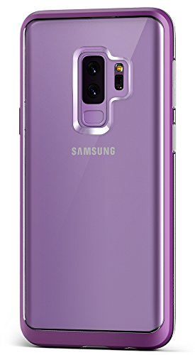 Galaxy S9 Plus Case :: VRS :: Transparent Crystal Thin Cover :: Clear Slim Fit :: Hard Drop Protective Bumper for Samsung Galaxy S9 Plus (Crystal Bumper - Lilac Purple)