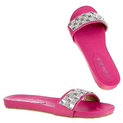 Ital-Design - Sandalias de vestir de Material Sintético para mujer Rosa - rosa